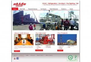 ผลงานเว็บไซต์ Air Engineering and Service Co., Ltd.