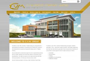 ผลงานเว็บไซต์ C.V.M. GROUP CO., LTD.
