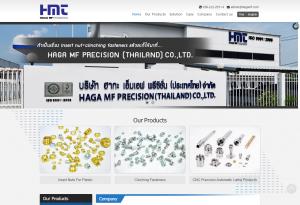 ผลงานเว็บไซต์ Haga MF Precision (Thailand) Co., Ltd.