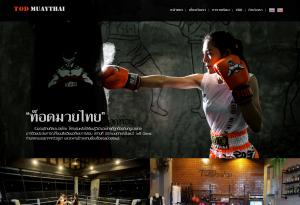 ผลงานเว็บไซต์ TOD Muaythai