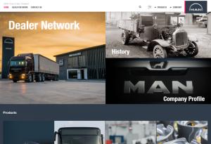 ผลงานเว็บไซต์ MAN Truck & Bus Asia Pacific Co.,Ltd.